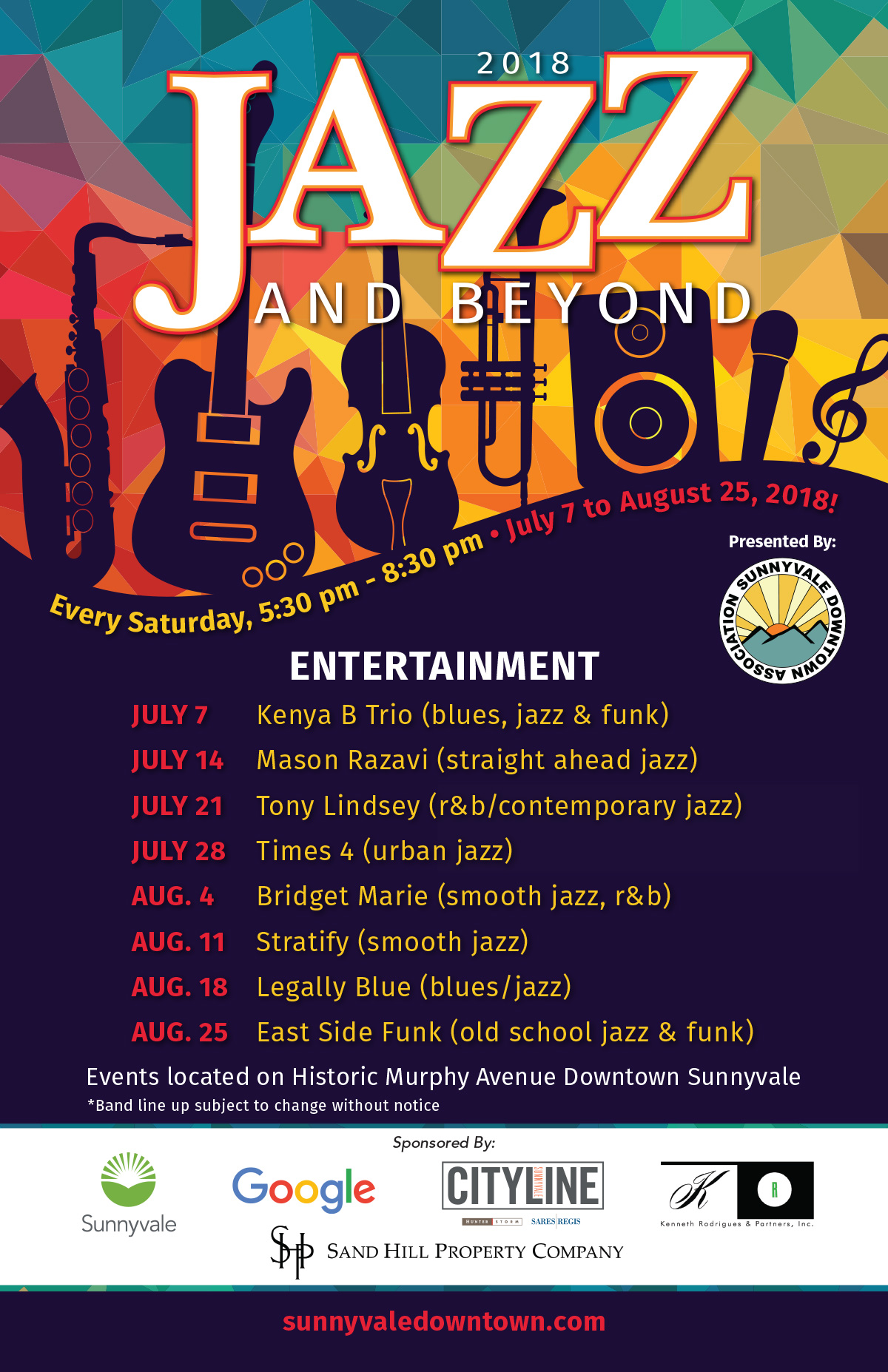 Sunnyvale Downtown Jazz And Beyond Poster