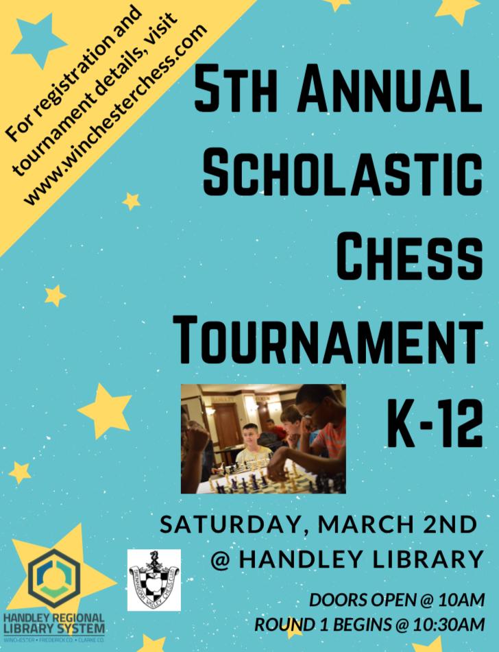 5th Annual SVCC Scholastic Chess Tournament Flyer