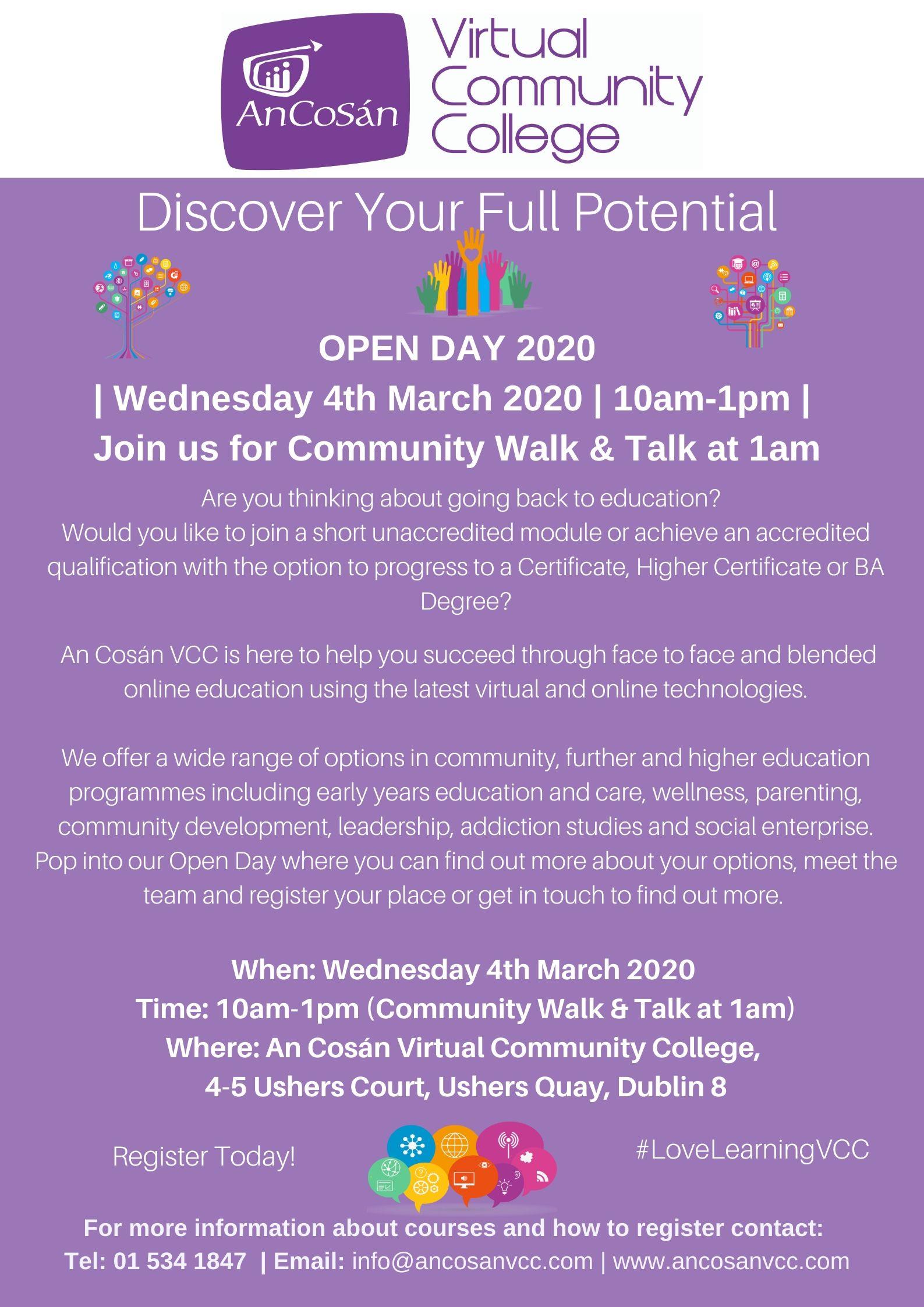 An Cosán VCC Open Day