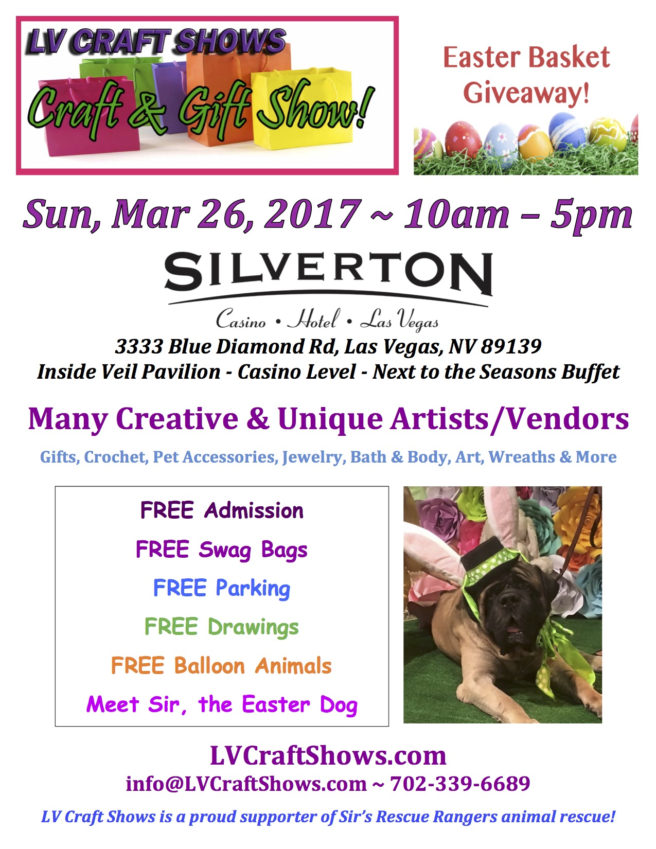 Lv craft shows easter gift show at the silverton tickets sun lvcs march 26 negle Gallery