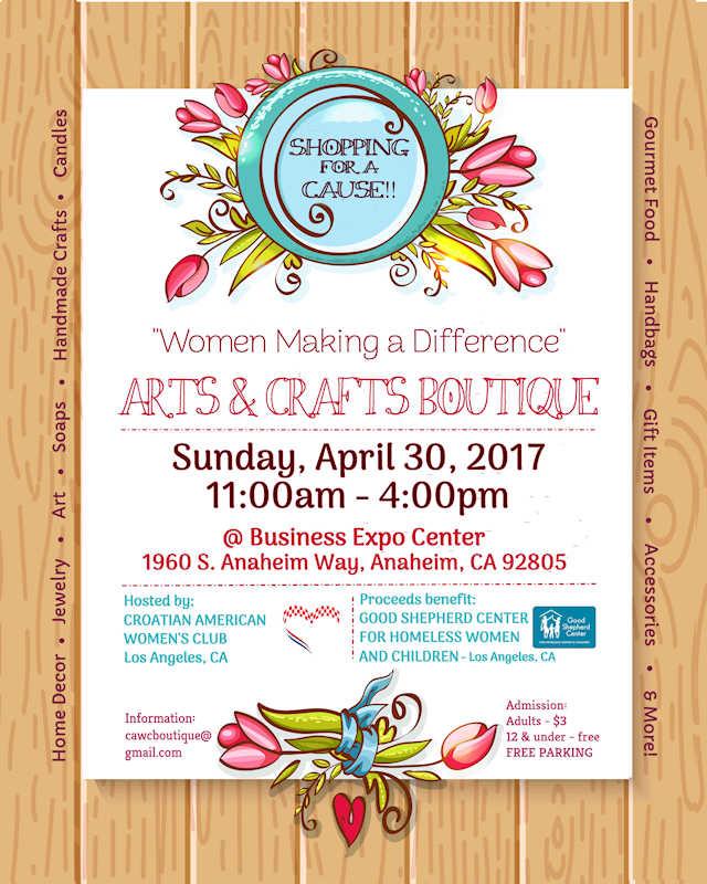 Anaheim CA Arts & Crafts Show April 30, 2017