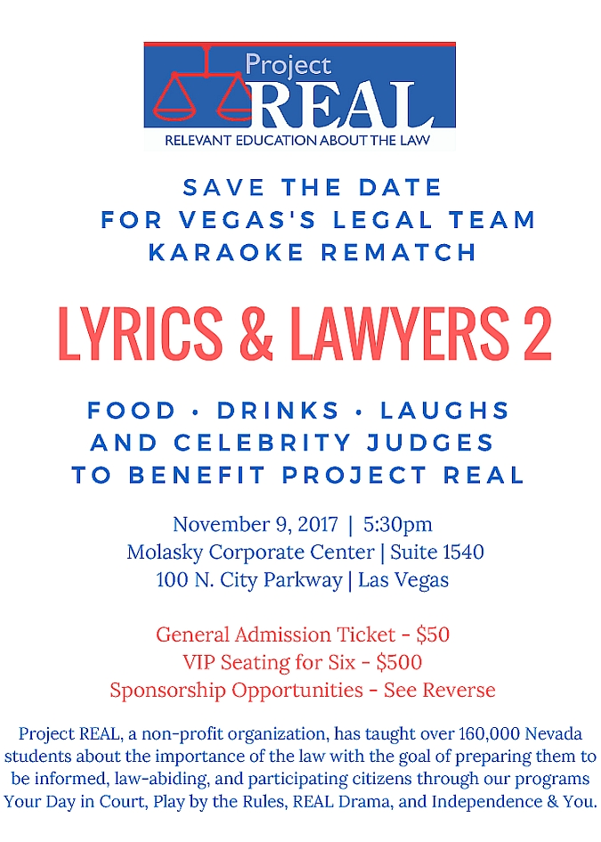 Lyrics & Lawyers II - A Benefit for Project REAL Tickets, Thu, Nov ...