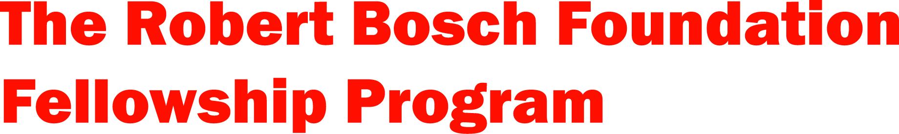 Robert Bosch Foundation Fellowship