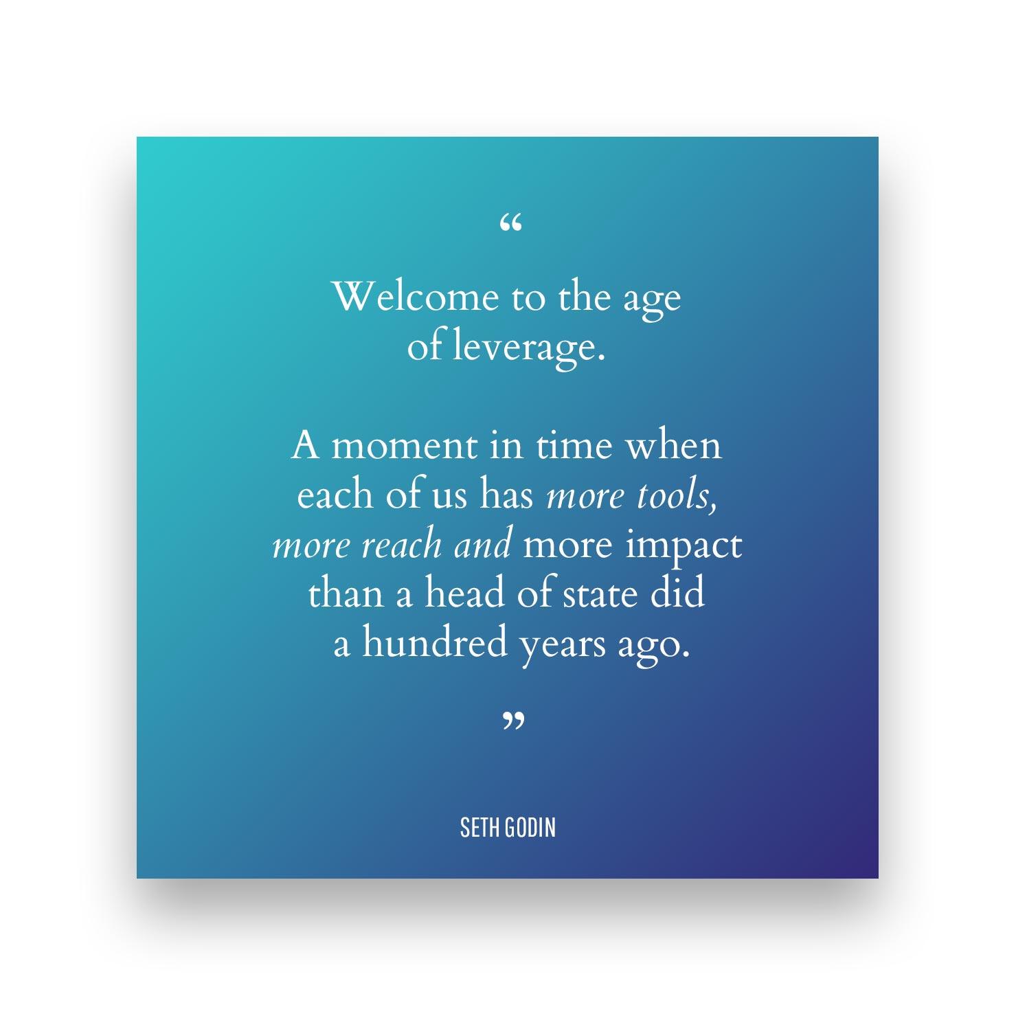 Quote 1 - Seth Godin
