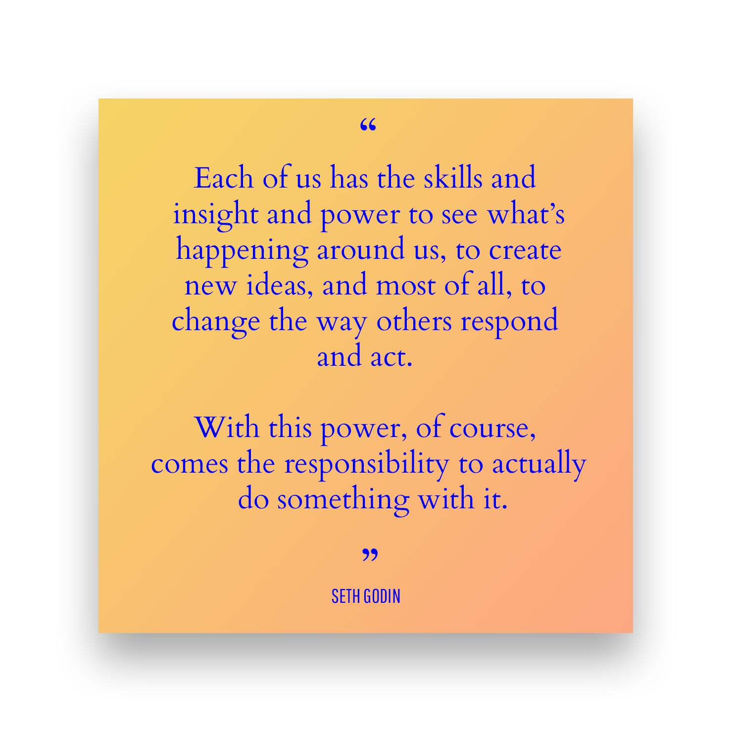 Quote 2 - Seth Godin