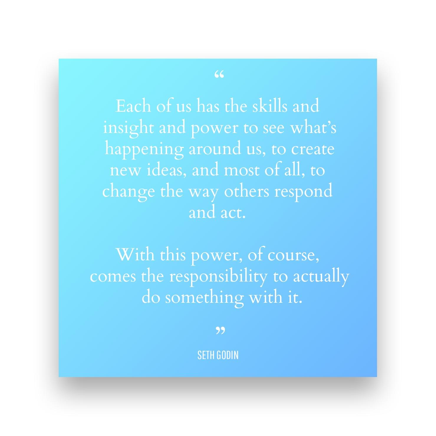 Quote 3 - Seth Godin