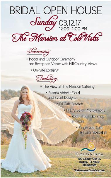 ColoVista Bridal Open House Wedding Vendor Showcase Tickets Sun