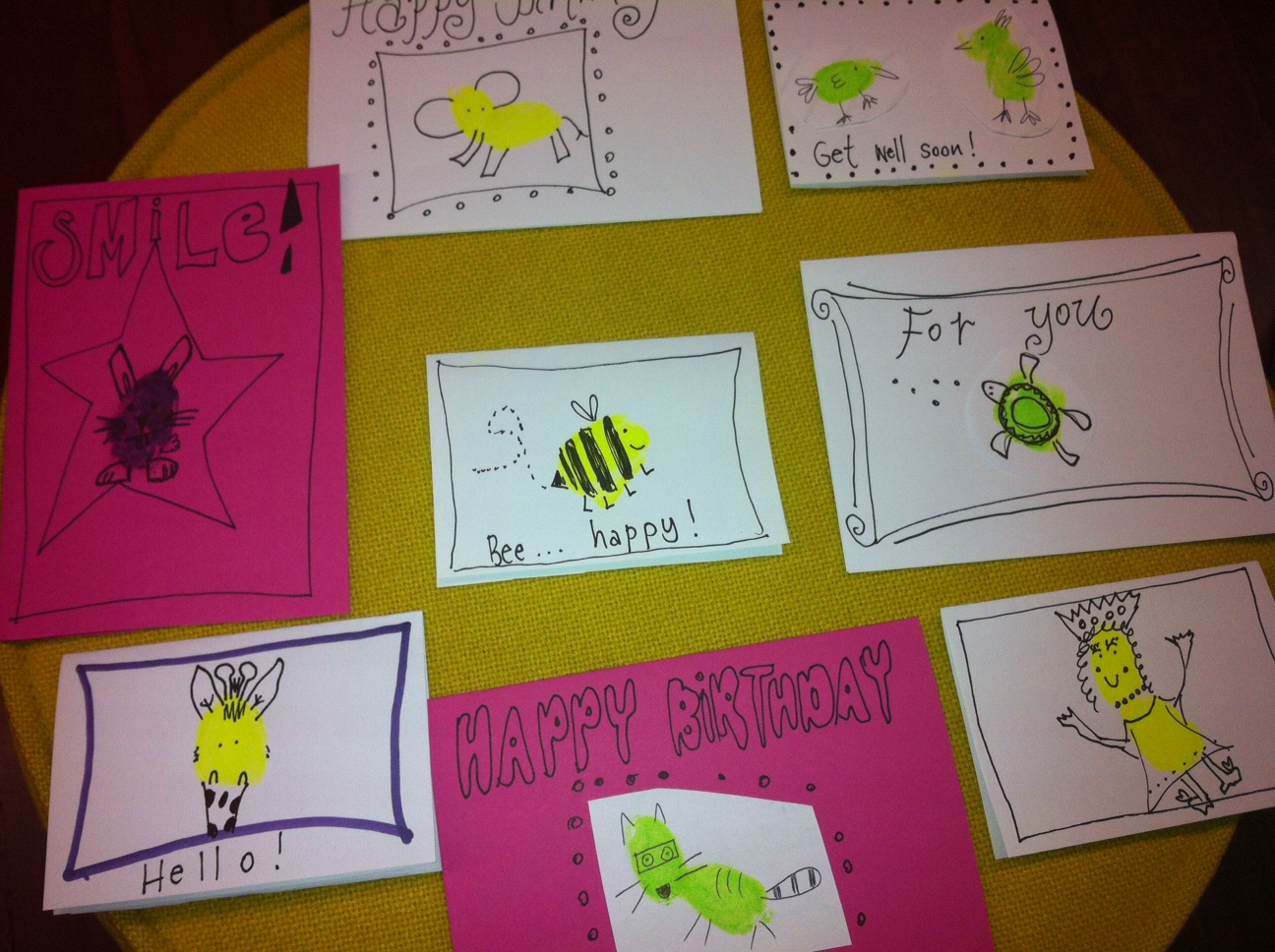 Fingerprint animal cards