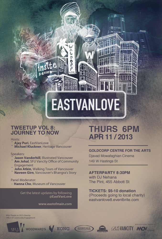 Eastvanlove Tweetup vol 8: Journey to Now - Poster by KONG Creative