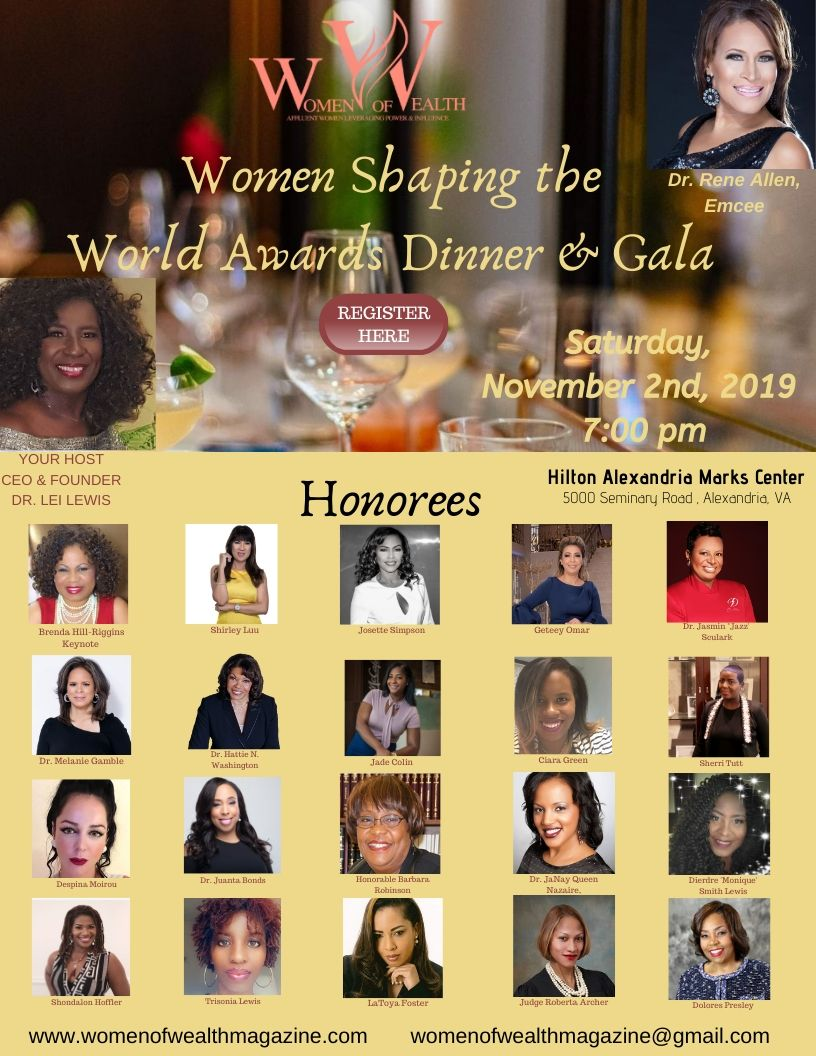 Women of Wealth Gala featuring Honorees