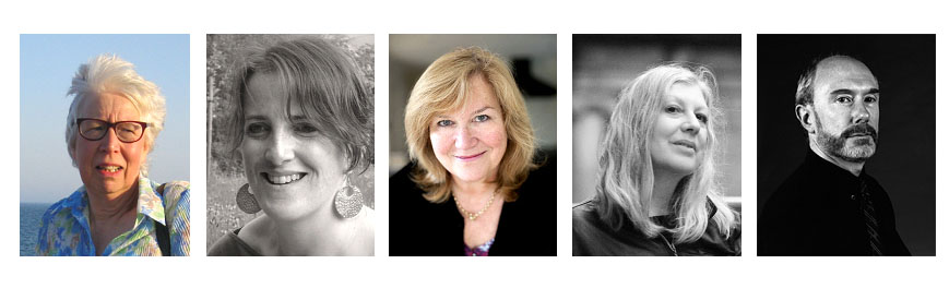 5 head shots of authors, 4 women and 1 man