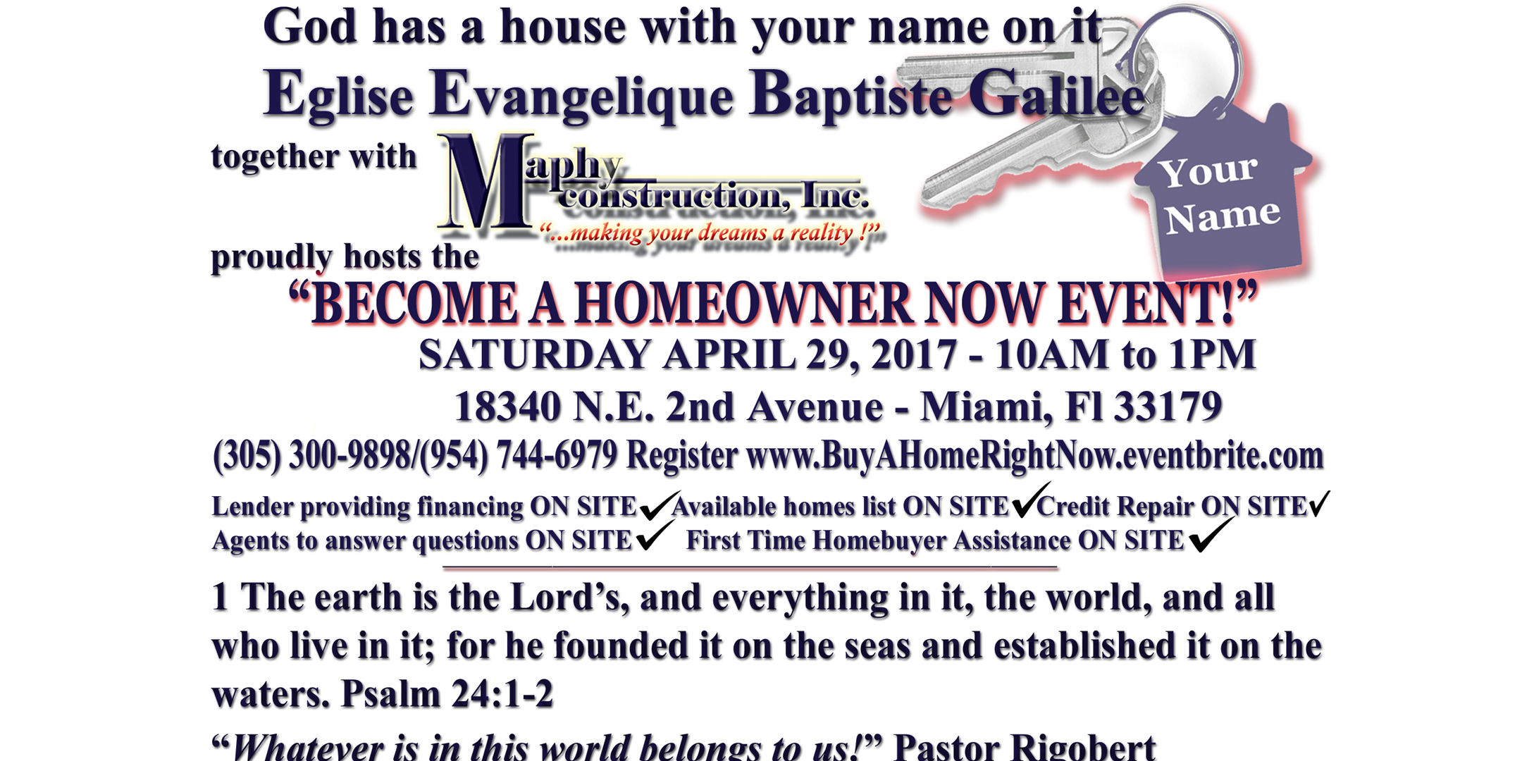 God Has A House With Your Name on It