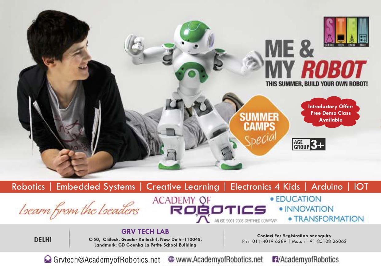 Academy of RObotics Summer Camp Delhi