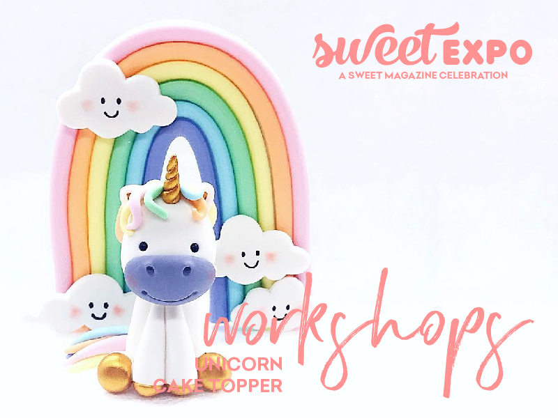 Sweet Expo Sydney 2019 Workshops Unicorn Cake Topper