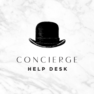 The WedLuxe Show Concierge Desk
