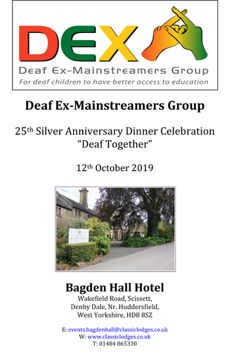 Deaf Ex-Mainstreamers Group 25th Silver Anniversary Dinner