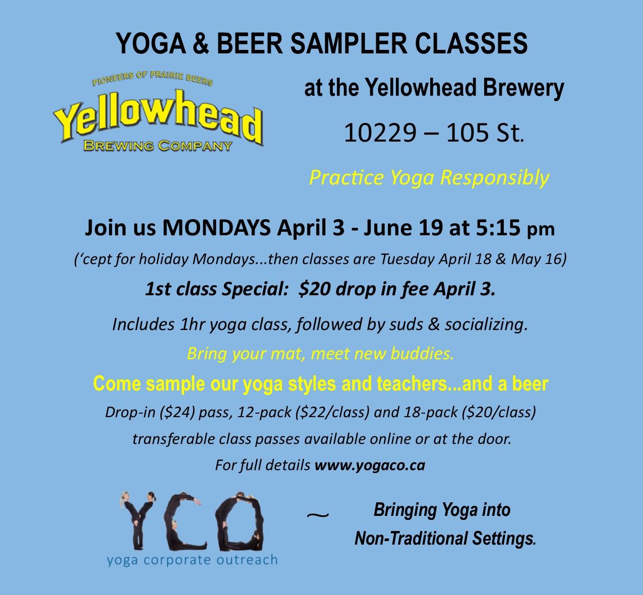 YCO Yoga&Beer Yellowhead Spring2017