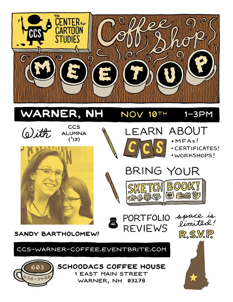 CCS Coffee Shop Meetup: Warner, NH 11/10/18