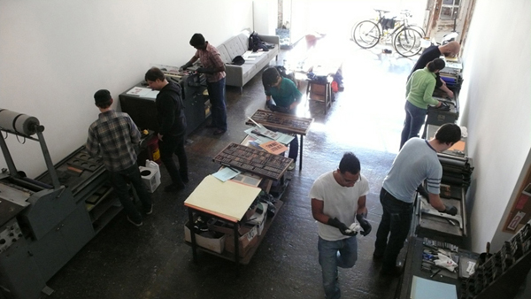 Letterpress Workshop at The Arm