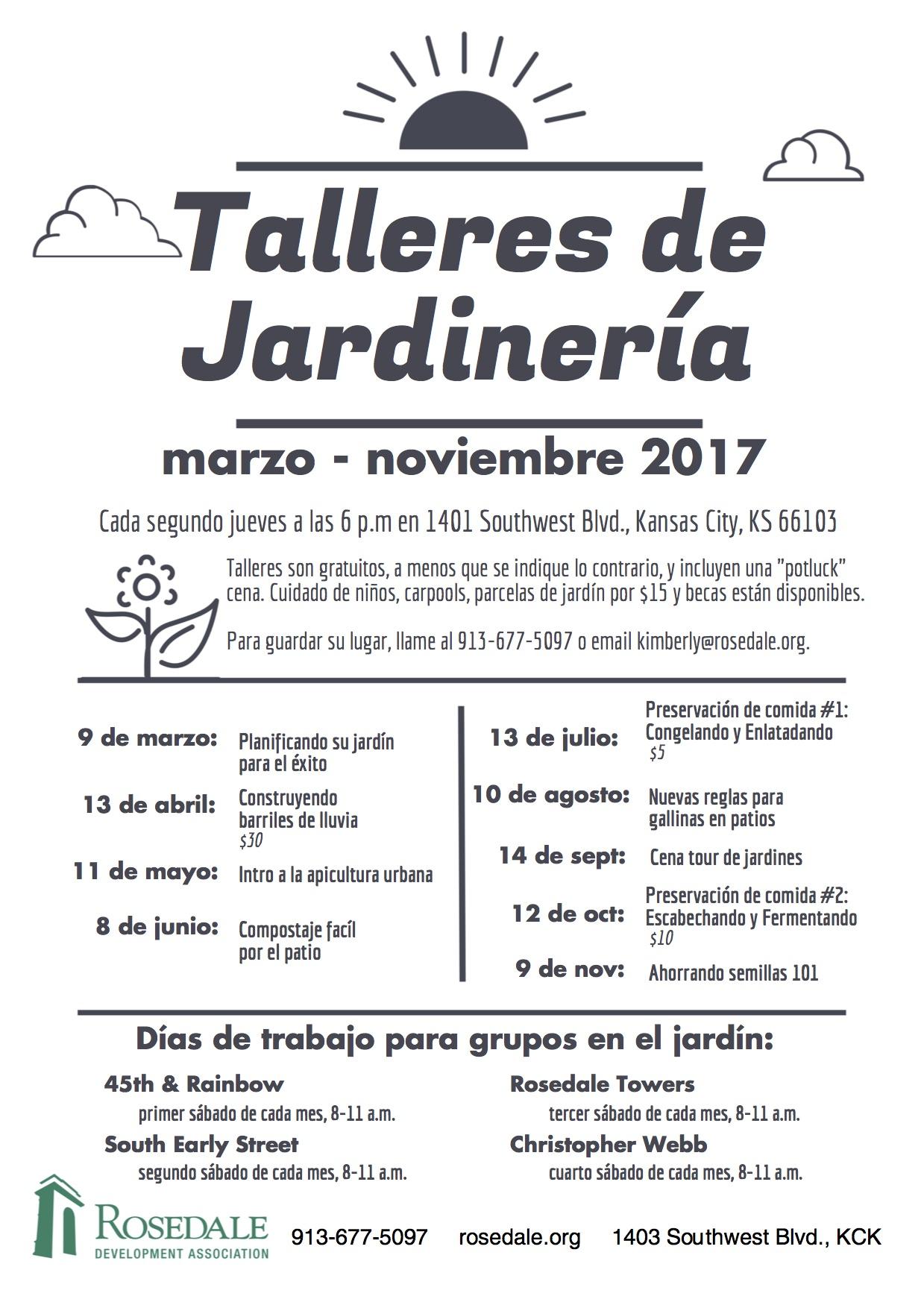2017 Calendario de Talleres