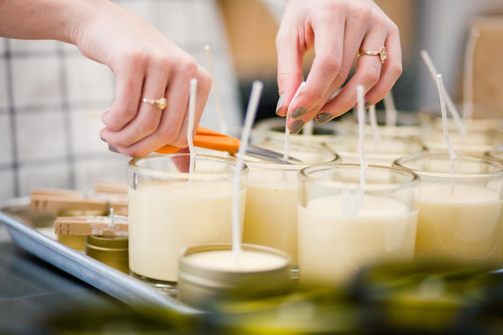 make your own scented soy candles