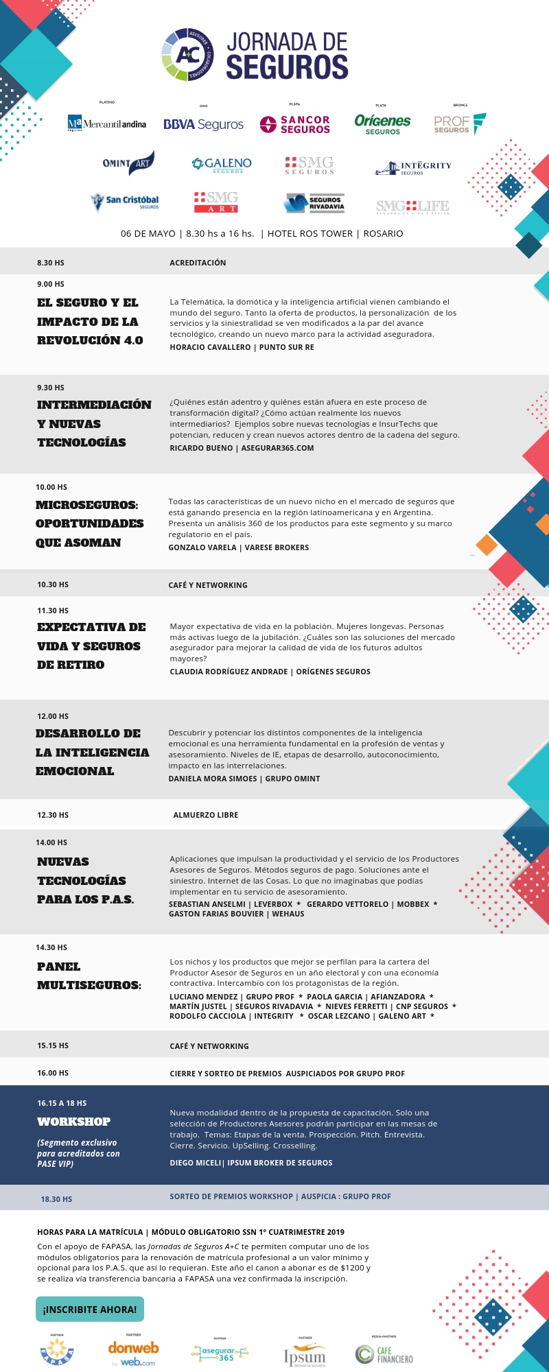 Programa Jornada de Seguros A+C Rosario