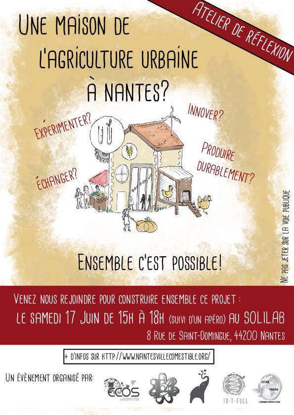 Flyer : une Maison de l'agriculture urbaine à Nantes?