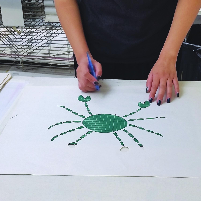 Fabric printing workshop