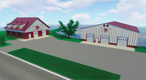 The Campaign for the Duluth Rowing Center will fund the construction of two new buildings: a Clubhouse (L) and a Boathouse (R).