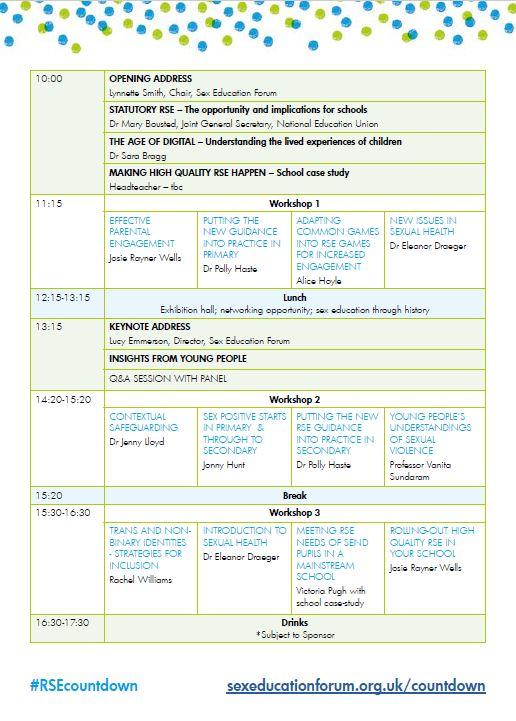 Agenda for 30 November conference