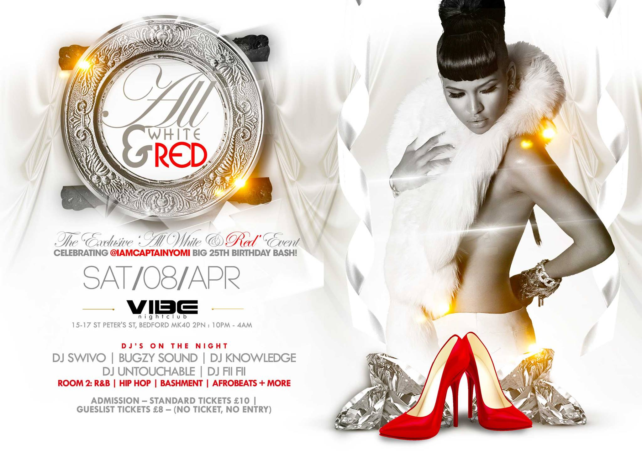 All White Red Touch Event Flyer