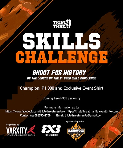 Skills Challenge Triple Threat  Manila 3on3 Basketball, Pre-Season
