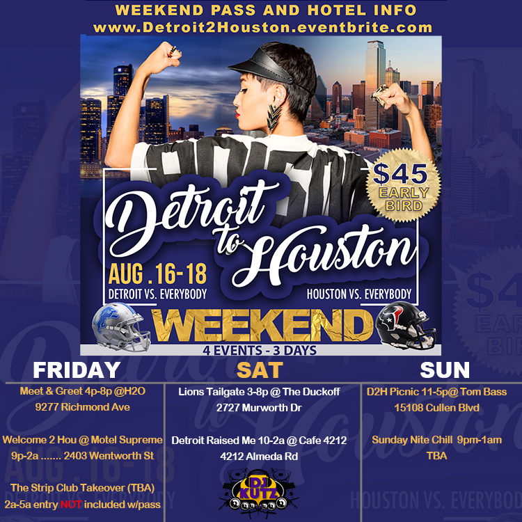 D2H WEEKEND ITINERARY