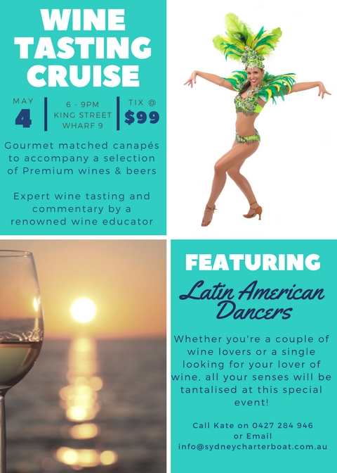 Wine Tasting Cruise with Latin American Dancers!