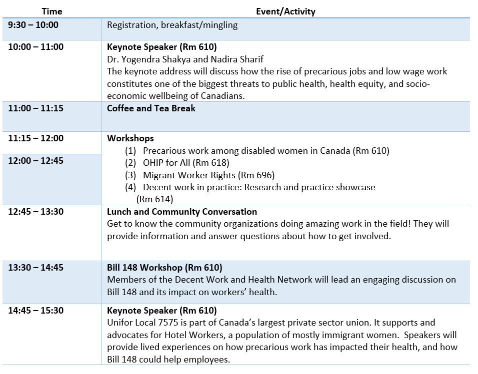 Conference Itinerary