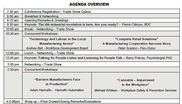 Agenda At A Glance