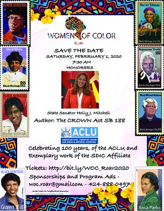 Women of Color Roar 2020 Flyer