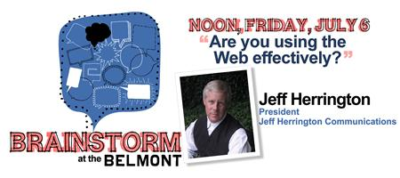 Brainstorm at the Belmont with Jeff Herrington