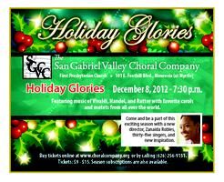 "San Gabriel Valley Choral Company Presents ""Holiday Glories"""