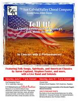 "San Gabriel Valley Choral Company Presents ""Tell It! A Choral..."