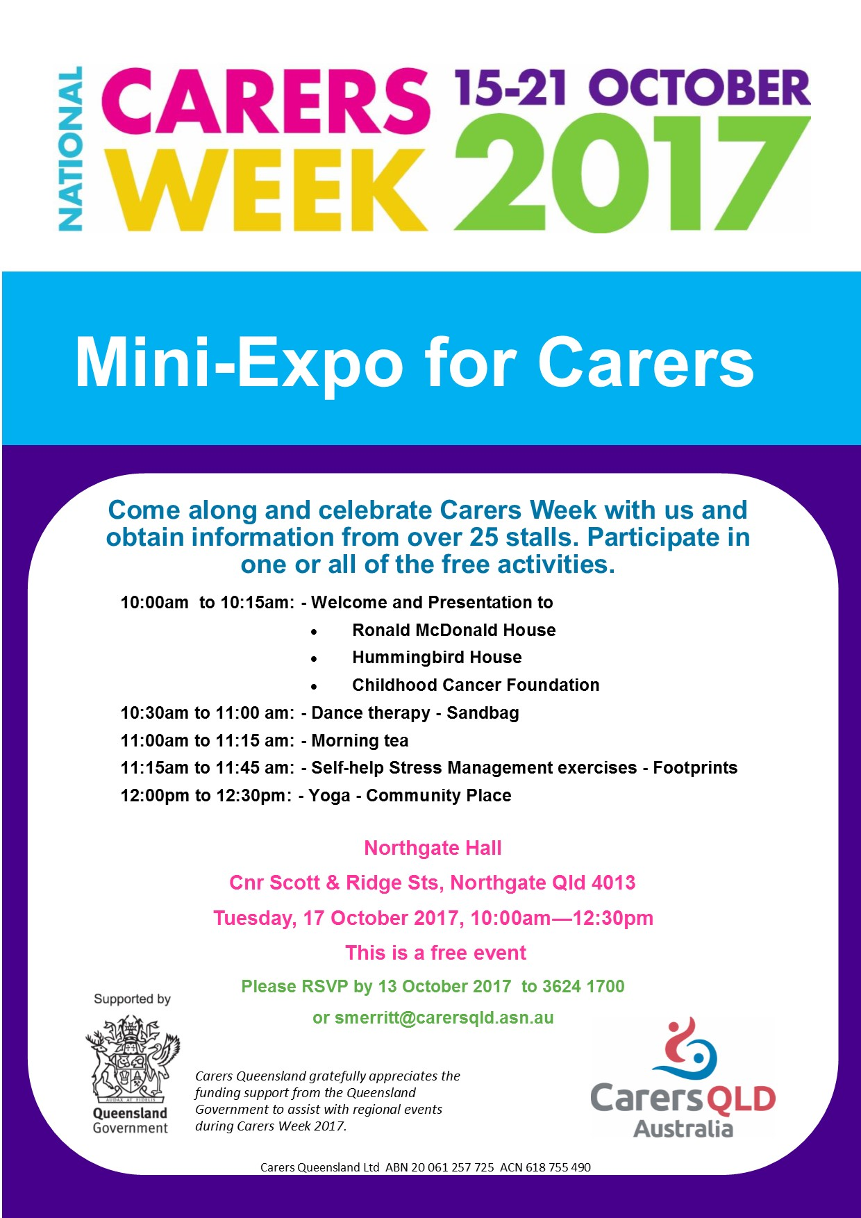 Carers Week Mini Expo Northgate