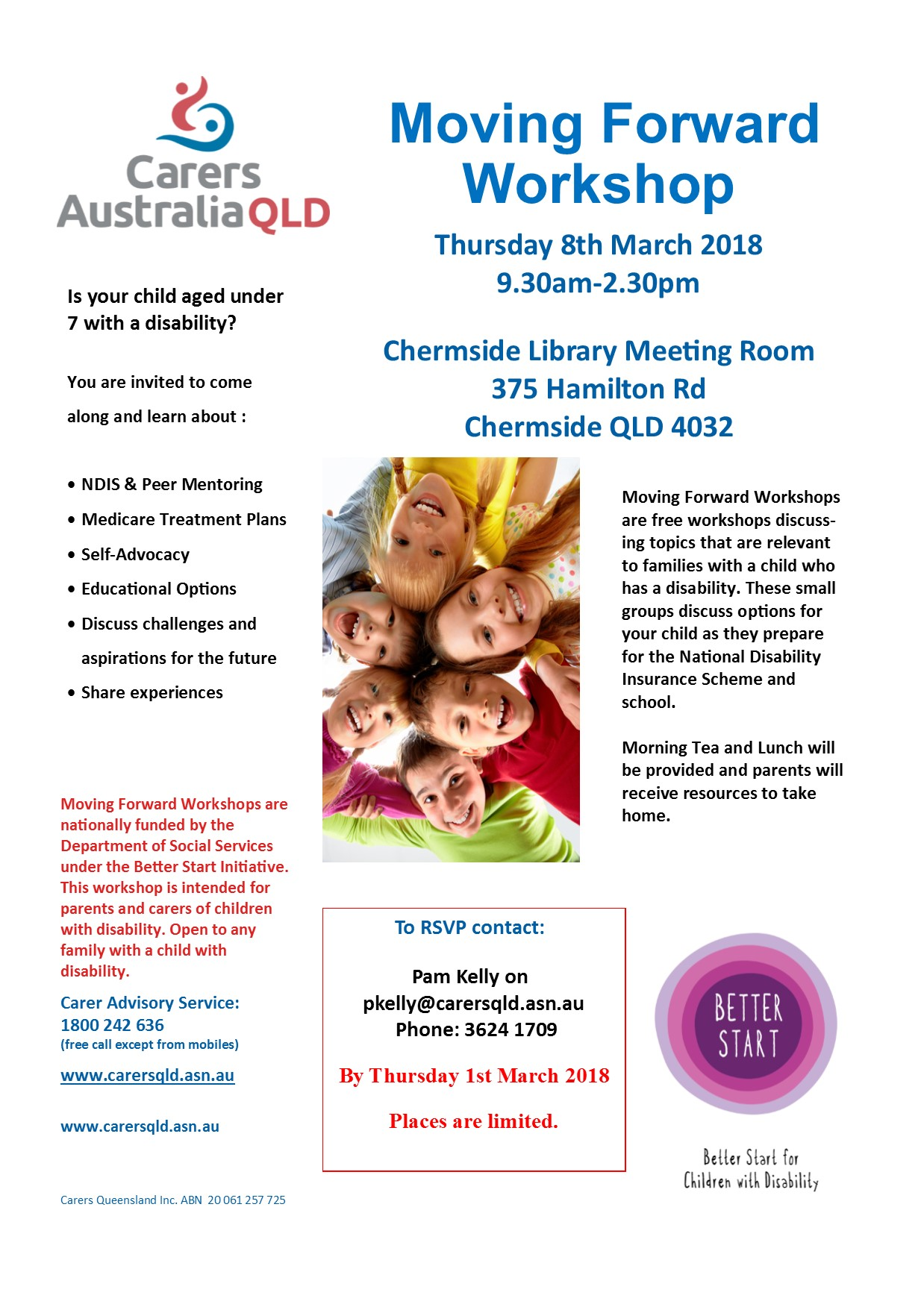 Chermside Moving Forward Workshop March 2018