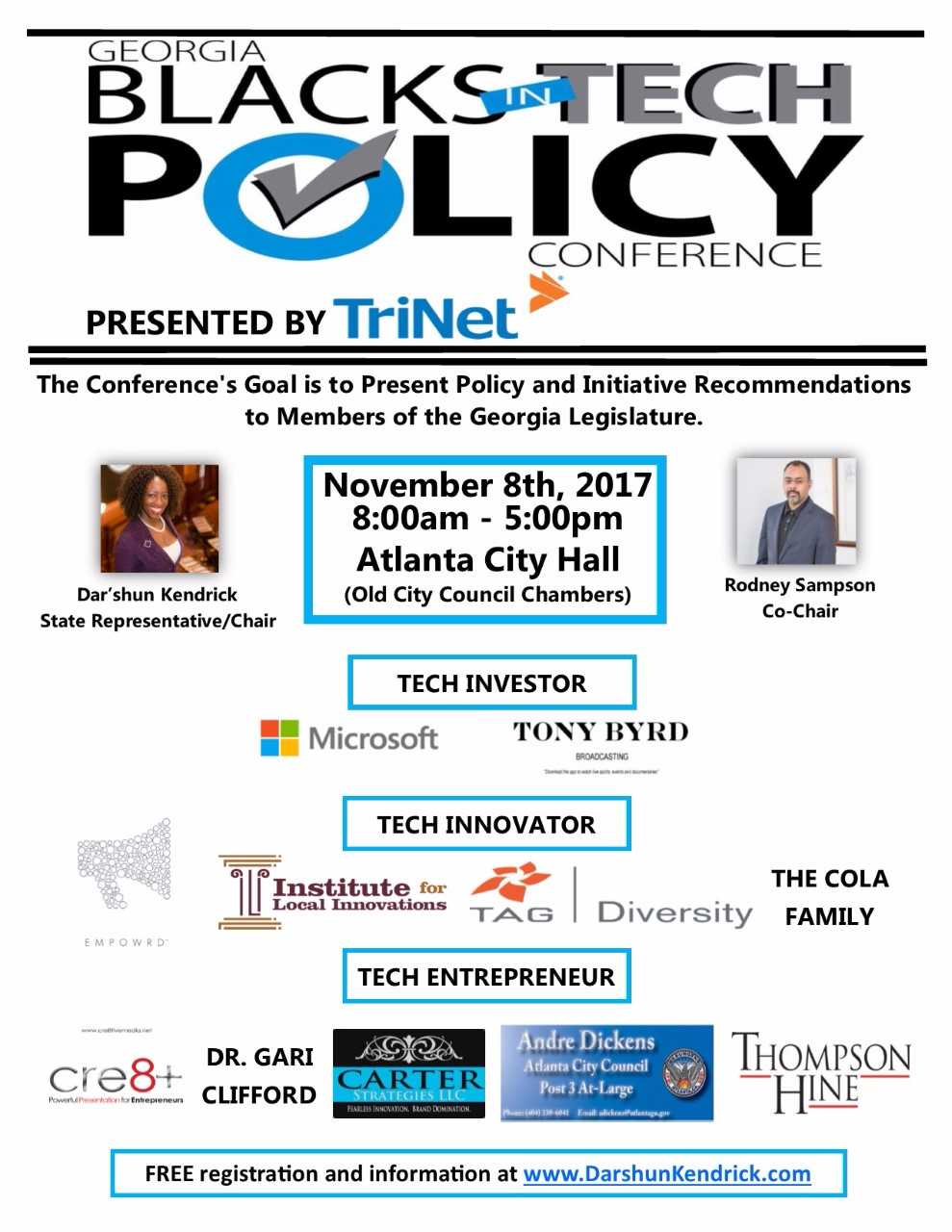 Blacks in Tech Policy Conference Flier