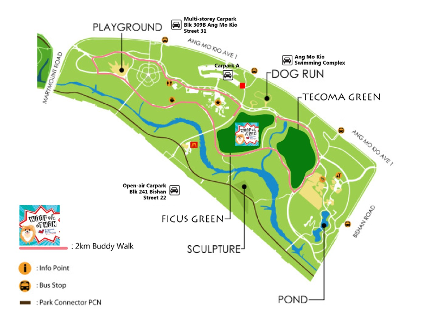 Woof-a-thon 2017 Venue Map