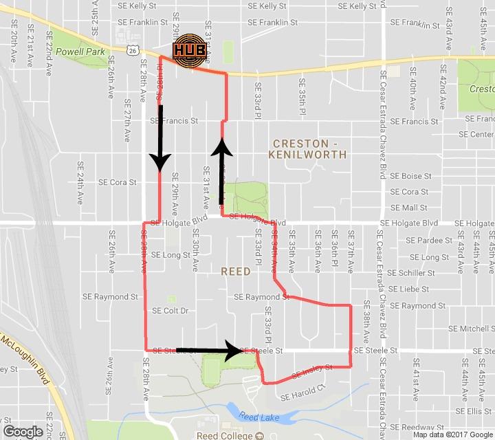 Hopworks Powell 2017 Running Course