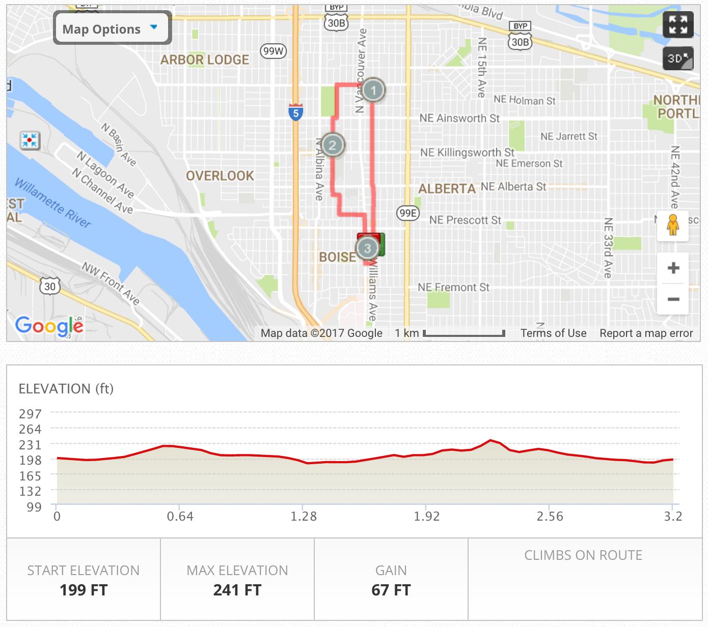 Lompoc 5K Fun Run Route
