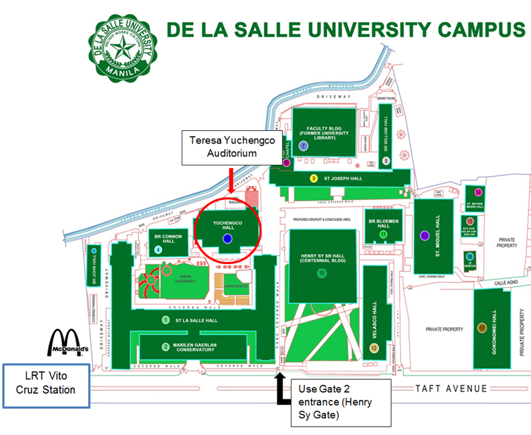 DLSU map