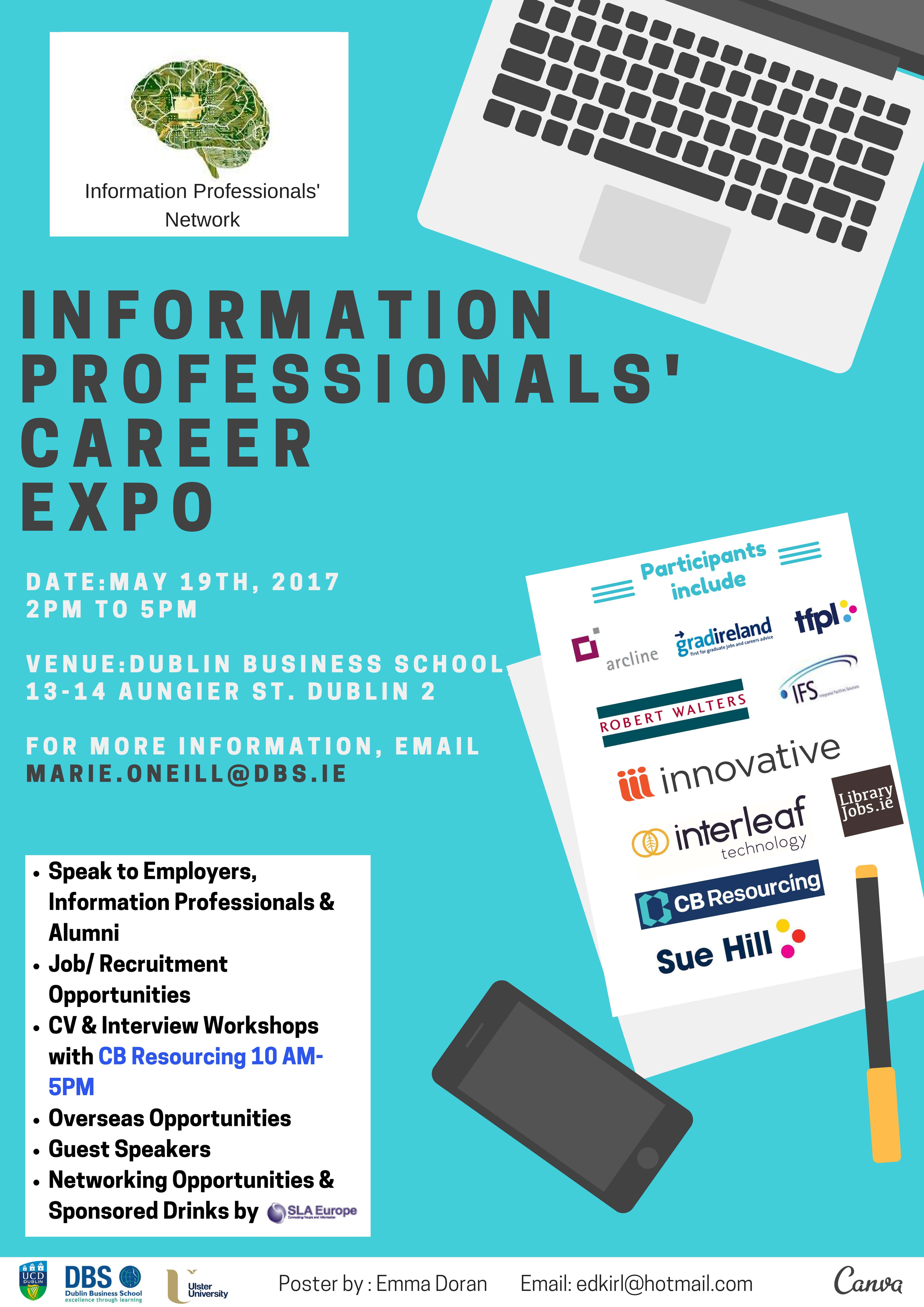 Information Professionals Network Careers Expo Poster