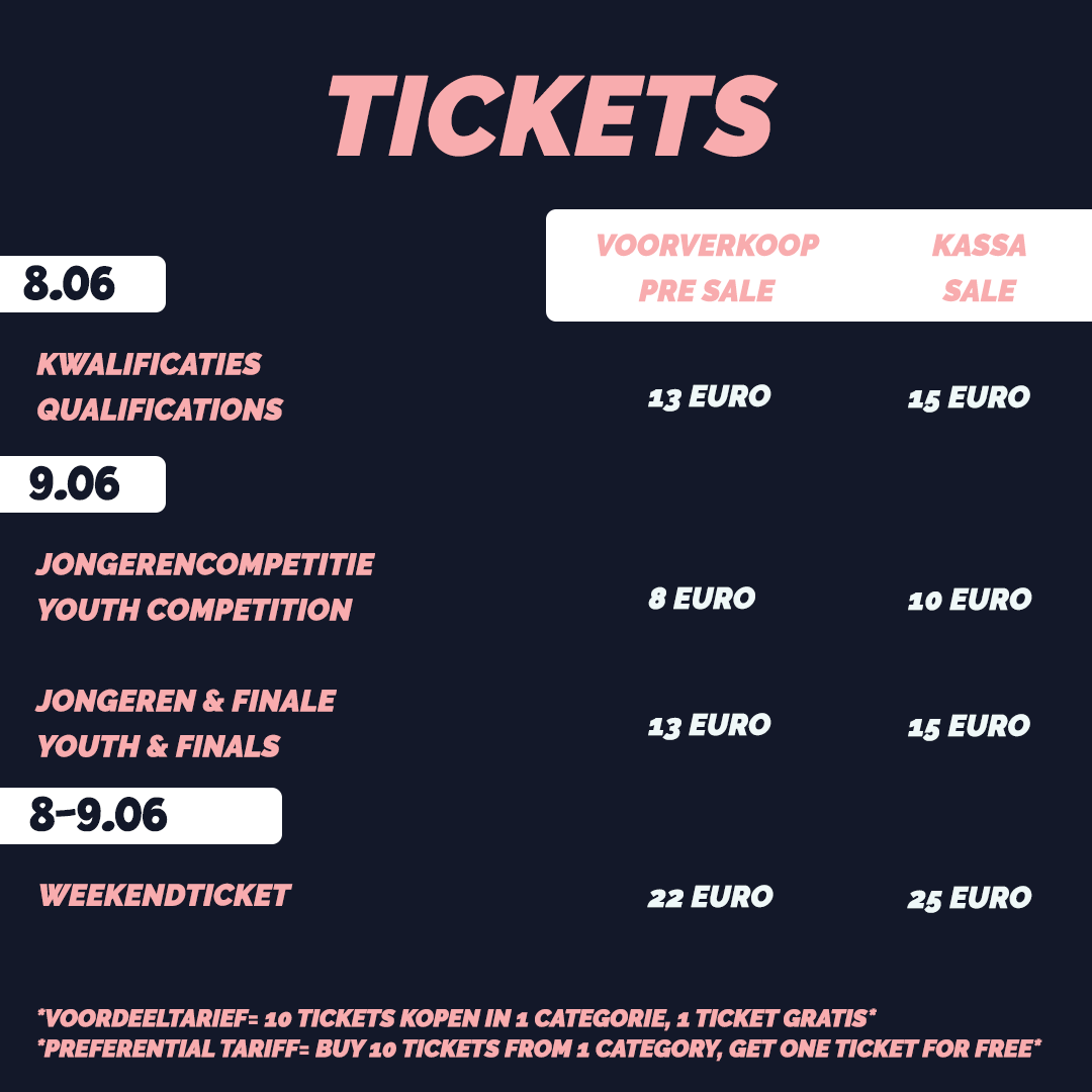 Toelichting ticketprijzen FIT-Challenge