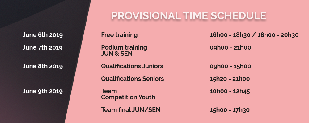 Provisional Time Schedule